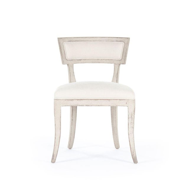 French Country Rochester Side Chair in White For Sale - Image 3 of 3