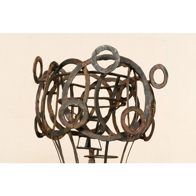 Tall French Sculptural Iron Abstract Art Piece, Circa 1930s-1940s For Sale In Atlanta - Image 6 of 12