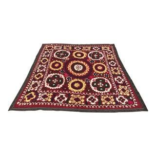 Vintage Handmade Turkish Suzani Fabric Bedding For Sale