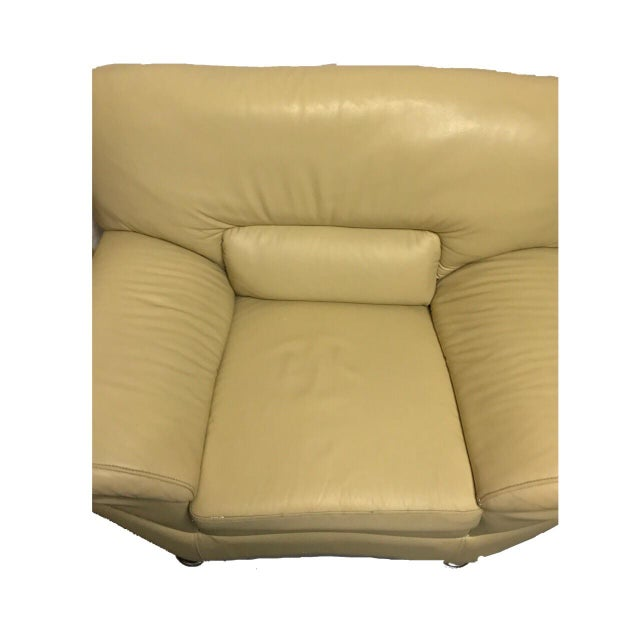 Naugahyde Atomic Club Chair - Image 3 of 10