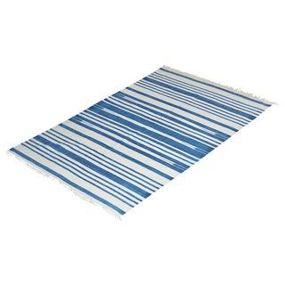 Geranium Rug, 6x9, Blue & White For Sale