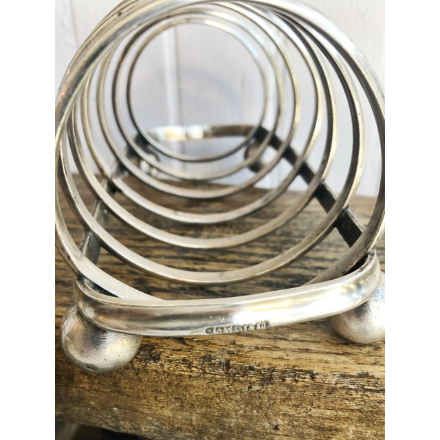 Late 19th Century Antique English P&o Steamship Silver Plated Toast Rack For Sale - Image 5 of 7