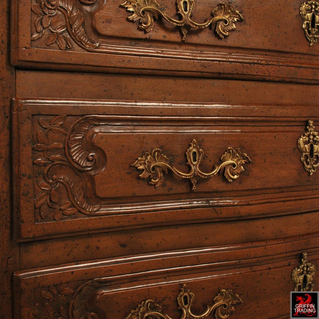Large 18th Century Louis XV Period Walnut Commode or Chest of Drawers For Sale - Image 10 of 13