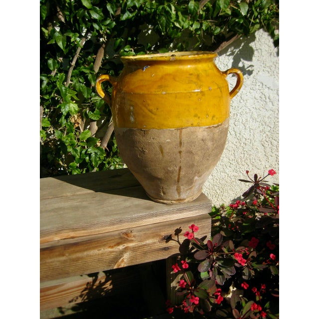 Late 19th Century 19th Century Country French Rustic Yellow Pot For Sale - Image 5 of 12