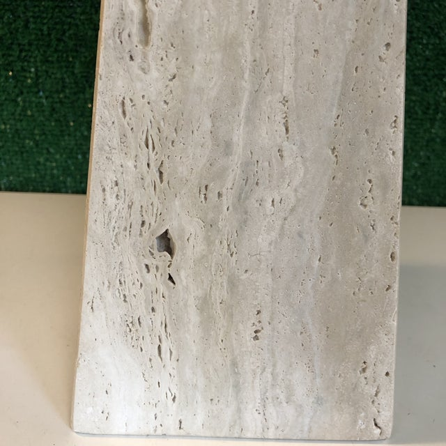 1960s Mid Century Travertine Obelisk For Sale - Image 5 of 9