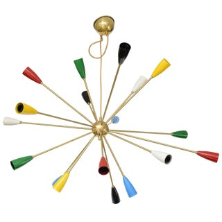 Sputnik Chandelier with 18 Shades For Sale