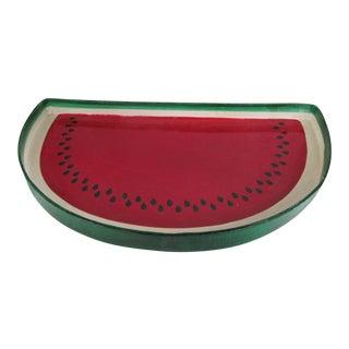 Vintage Paper Mache Watermelon Slice Tray For Sale