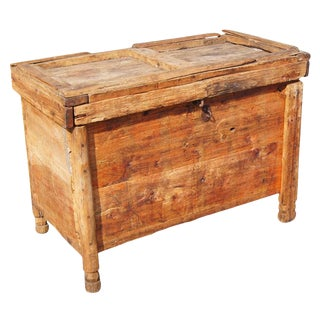 Rustic Moroccan Wooden Trunk Chest For Sale