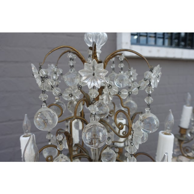 French Crystal & Bronze Lights - Pair - Image 3 of 9