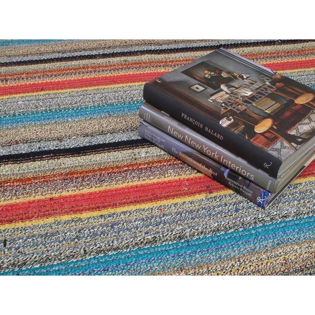 Large Kilim with Colorful Stripes For Sale In New York - Image 6 of 8
