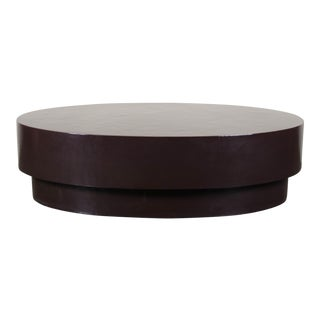 Oval Coffee Table - Antique Copper by Robert Kuo, Hand Repoussé, Limited Edition For Sale