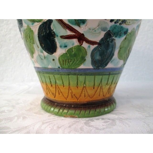 Italian Majolica Handled Vase - Image 7 of 9
