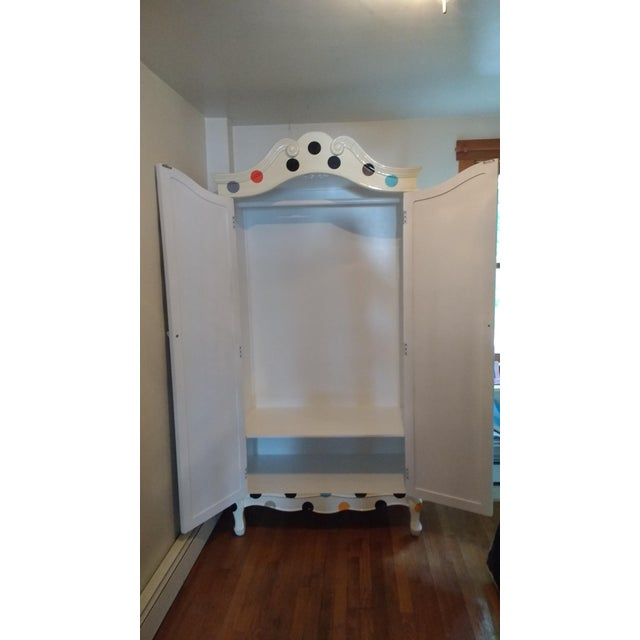 Contemporary Polka Dot Armoire - Image 2 of 4