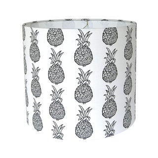 Black & White Pineapple Drum lampshade For Sale