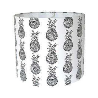 Black & White Pineapple Drum lampshade