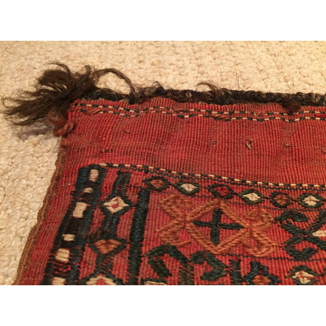 Antique Tribal Persian Wool Saddle Bag For Sale In San Francisco - Image 6 of 7