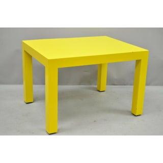 1970s Contemporary Thayer Coggin Milo Baughman Yellow Parsons End Table Preview