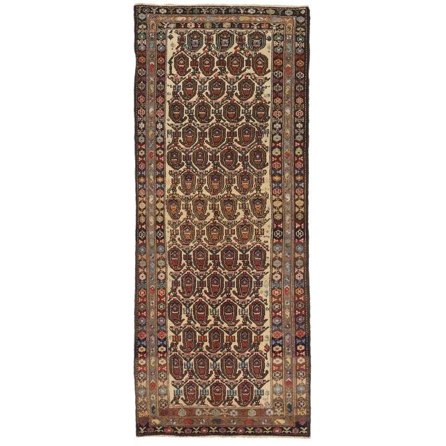 1920s Antique Persian Area Rug Bakhtiar Design For Sale - Image 5 of 5