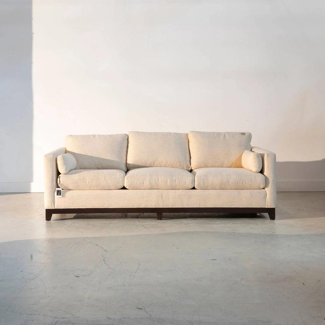 Cream The Gunter Upholstered Sofa For Sale - Image 8 of 8