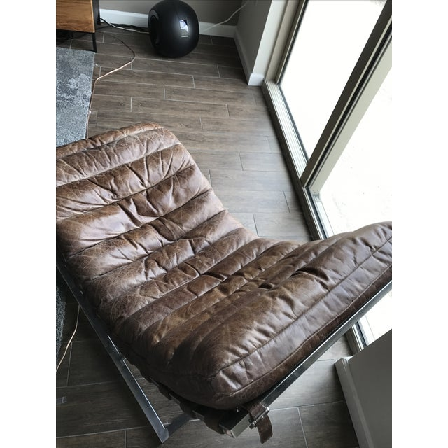Restoration Hardware Leather Chaise - Image 6 of 6