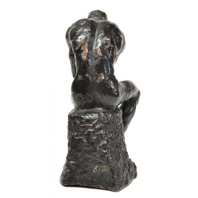 """The Thinker"" in Patinated Bronze - Image 3 of 3"