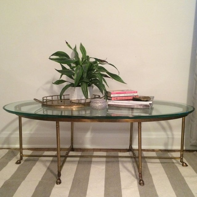 La Barge Gilt Glass Coffee Table - Image 3 of 6