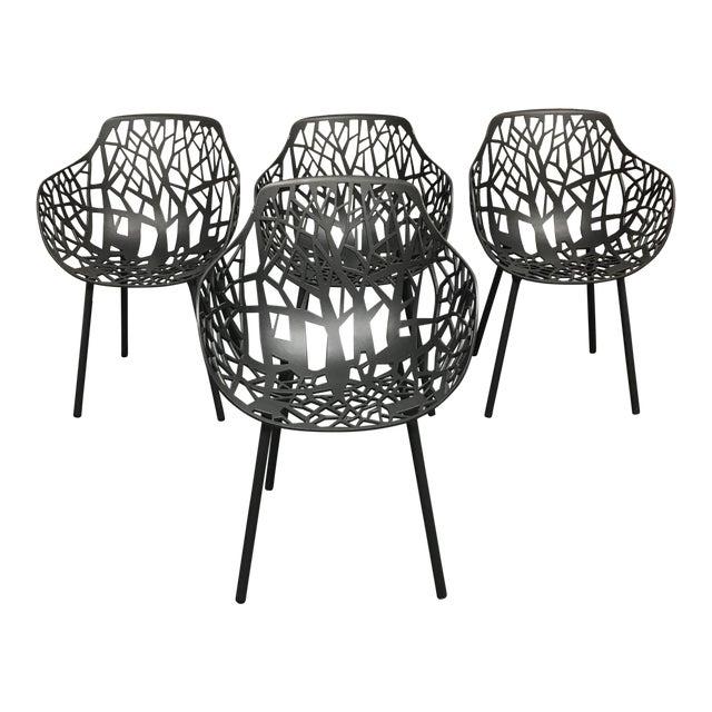 Janus Et Cie Metallic GreyForrest Dining Chair - Set of 4 - Image 1 of 10