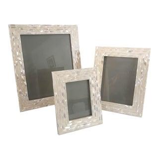 Modern Mother-Of-Pearl Frames - Set of 3