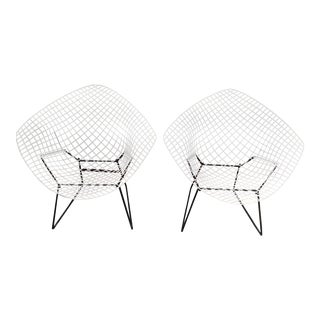 Harry Bertoia Diamond Chairs - A Pair For Sale