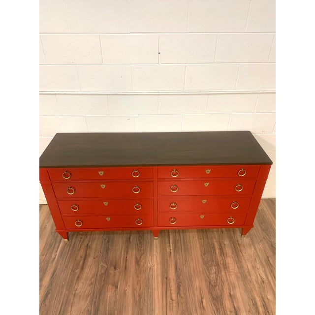 Wood 1960s Baker Furniture Chest of Drawers For Sale - Image 7 of 9