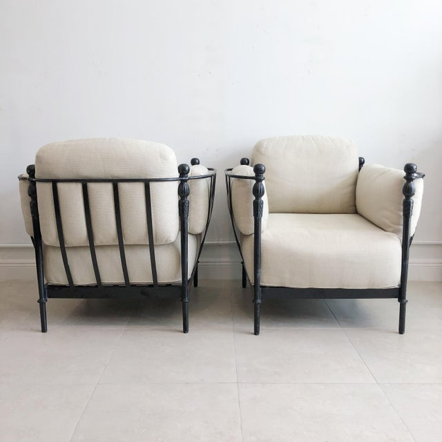 Michael Taylor Pair Michael Taylor Montecito Outdoor Lounge Chairs For Sale - Image 4 of 9