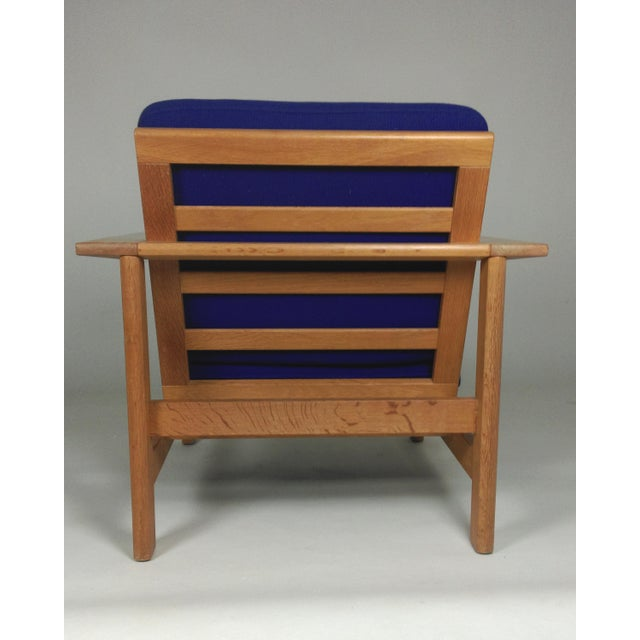 1980s Frederecia Furniture Soren Holst Danish Oak Lounge/Easy Chair For Sale In Madison - Image 6 of 10