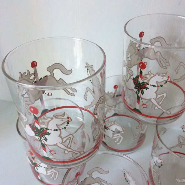 Libbey Merry-Go-Round Glasses - Set of 6 For Sale - Image 10 of 13