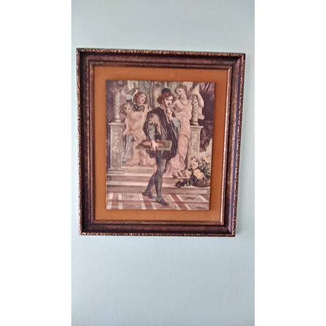 Vintage Artini Hand Painted Sculpture Engraved Wall Art For Sale - Image 12 of 13