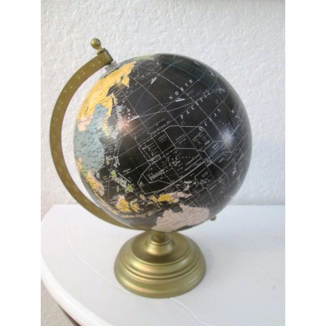 Black Spinning World Globe - Image 3 of 8