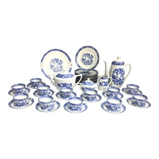 Antique Chinoiserie Dessert Set, 44 Pieces For Sale
