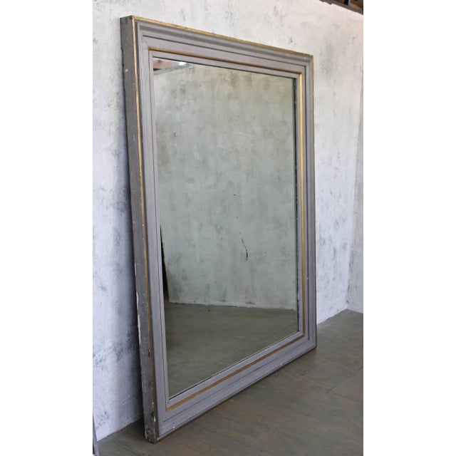 Very Large French 19th C. Mirror in a Carved Wood Frame - Image 3 of 11