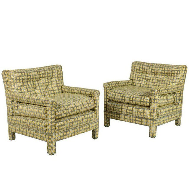 Mid-Century Modern Pair of Milo Baughman Parsons Lounge Chairs For Sale - Image 3 of 3