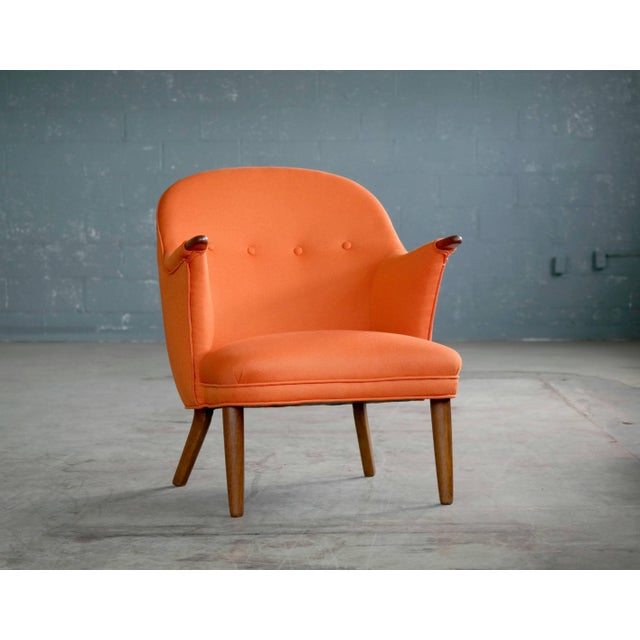 1950s Small Danish Mama Bear Style Lounge Chair in the Manner of Kurt Olsen For Sale - Image 10 of 10