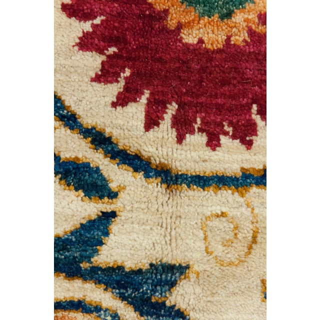 """Suzani Orange & Red Hand-Knotted Rug - 8'2"""" X 10'5"""" - Image 3 of 3"""