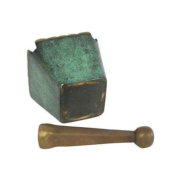 Mid Century Modern Brass Mortar & Pestle - Image 5 of 5