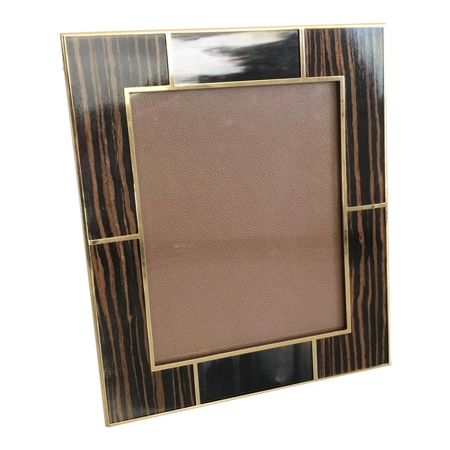 Brown Macassar With Buffalo Horn Photo Frames For Sale