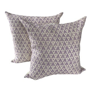Lilac Quadrille China Seas Volpi Pillow Covers - a Pair For Sale
