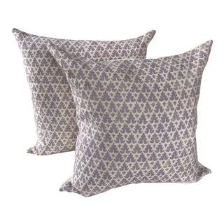 Lilac Quadrille China Seas Volpi Pillows - A Pair