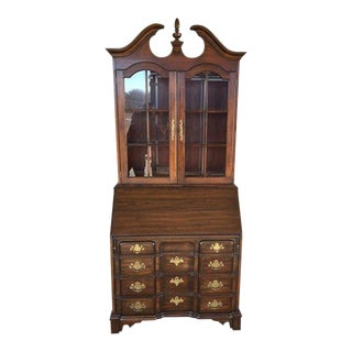 Pennsylvania House 18th Century Chippendale Style Solid Cherry Secretary Desk For Sale