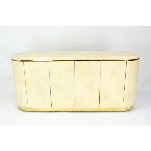 Modern Mid-Century Modern, Drum Shape Long Credenza Server in the Springer Style For Sale - Image 3 of 7