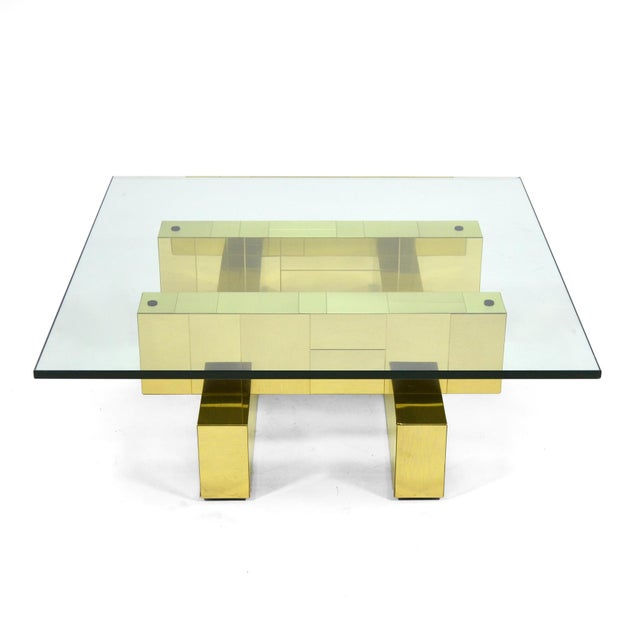 Hollywood Regency Paul Evans Cityscape Coffee Table by Directional For Sale - Image 3 of 11