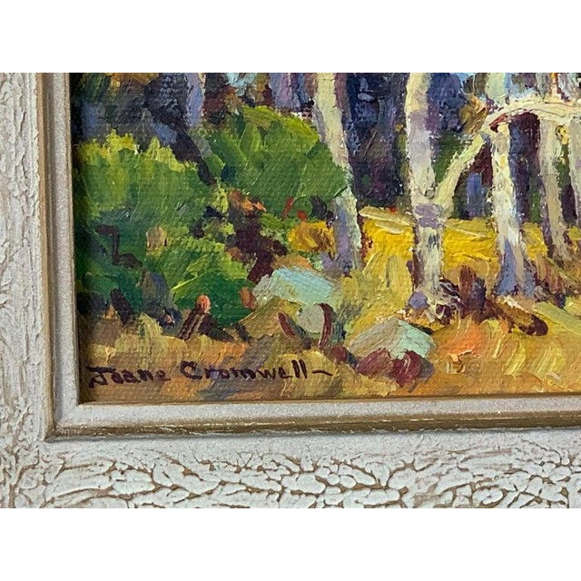 1940s Oil Painting by California Plein Air Painter Joane Cromwell For Sale - Image 5 of 10