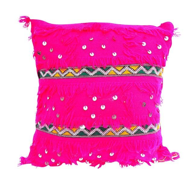 Pink Moroccan Wedding Pillow - Image 1 of 2