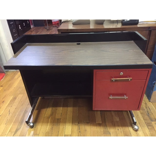Designcraft 2 Drawer Industrial Desk - Image 4 of 9